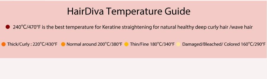HairDiva Temperature Guide
