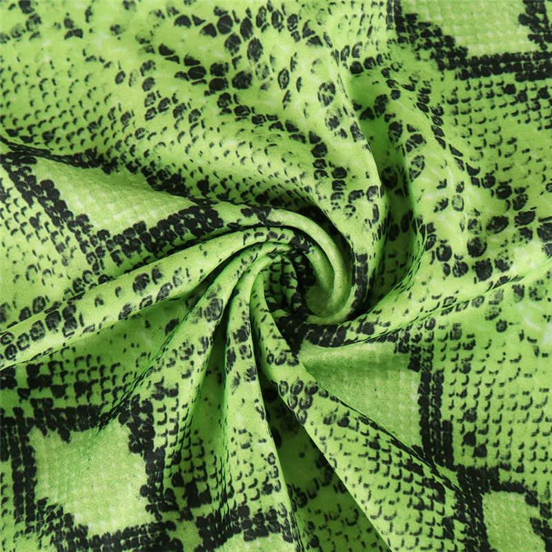 2019 новые брюки женские зеленая змея печать широкие брюки розовые брюки осенние длинные свободные брюки с высокой талией уличные брюки женские