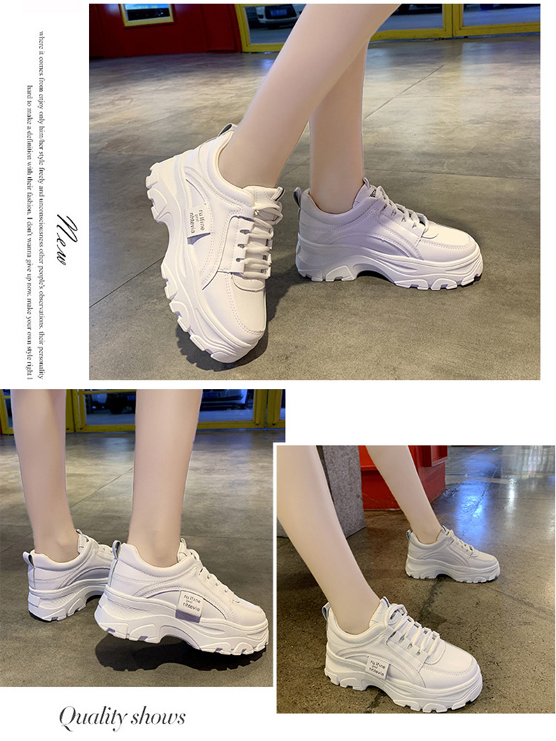 Autumn New Korean Style Women Shoes Casual Platform Solid Color Sneakers Women Casual Shoes Sneakers Zapatos De Mujer VT762 (9)