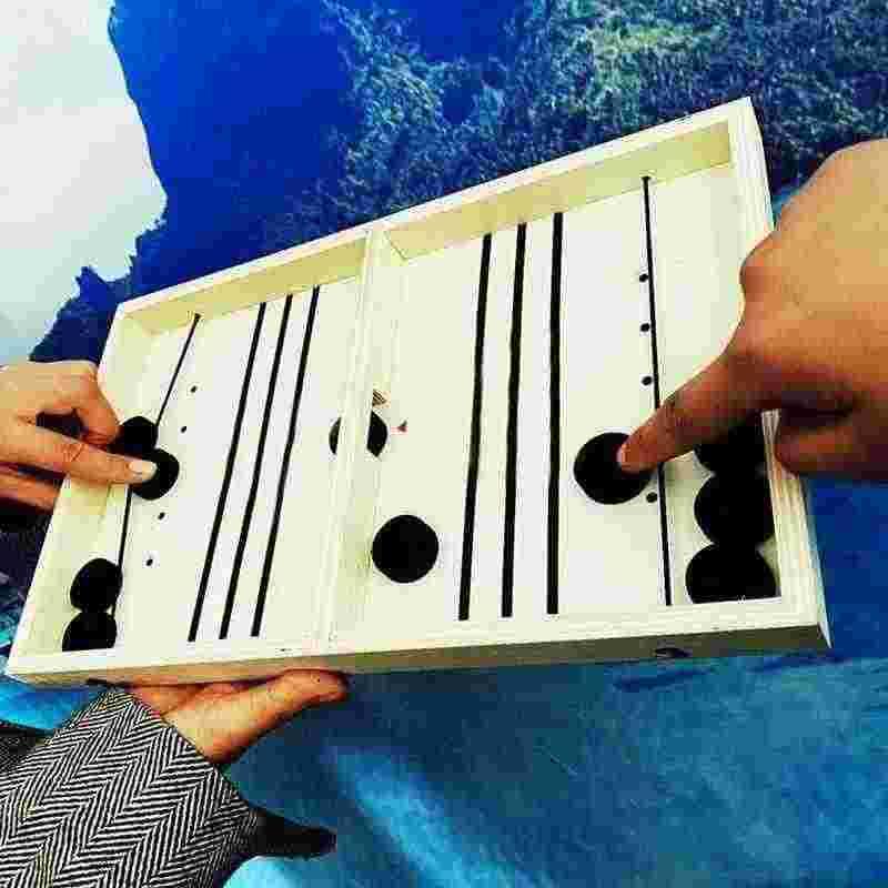 شعبية لعبة هوكي الطاولة Slingpuck سطح المكتب الشطرنج مونتيسوري ألعاب المجلس لعب للبالغين لعبة تفاعلية تشايلدز Juego X1K7