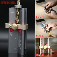Multi functional Woodworking Tools Height Gauge Limit Ring Installation Aid Drill Angle Measurer High Precision Rule