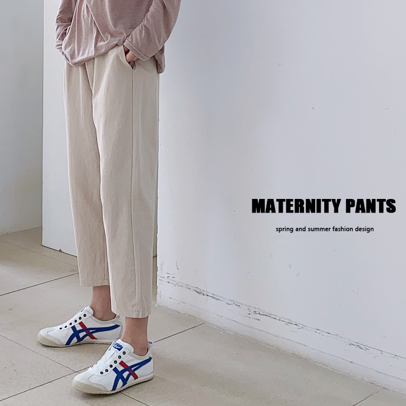 Pregnancy Pants Maternity Clothes for Pregnant Women Spring&Summer 2021 Thin Stomach Lift Loose Casual Slim Breathable Trousers