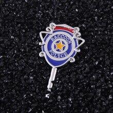 Porte-clés 3 de la Station de Police de la ville de raton laveur Jill Valentine S.T.A.R.S. Pendentif clé, bijoux Cosplay