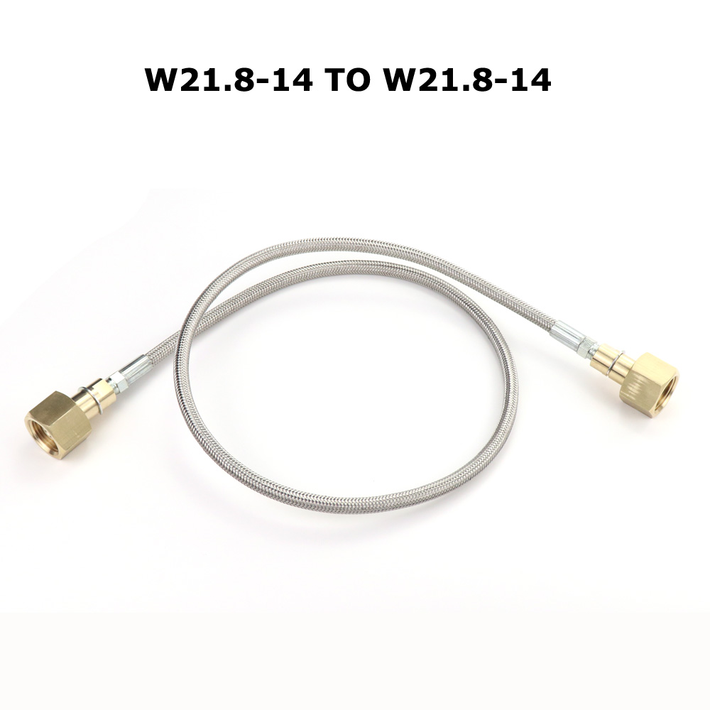 NEW  CO2 Fill Refill Station Charging Adaptor With 37Inch / 50Inch Hose W21.8-14 TO W21.8-14(DIN 477)