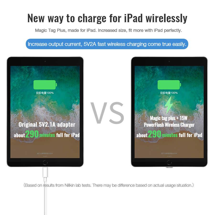 Per iPad Ricevitore Wireless di Ricarica, nillkin Magia Tag X Qi Caricatore Senza Fili Ricevitore Circuito Integrato per iPad 10.2 / 9.7 per iPad Pro 10.5