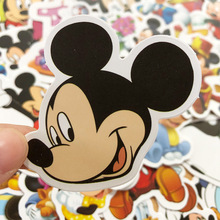 Toys Stickers Guitar Mouse Rooms-Luggage Animation Personality Disney Cartoon 50pcs Gift