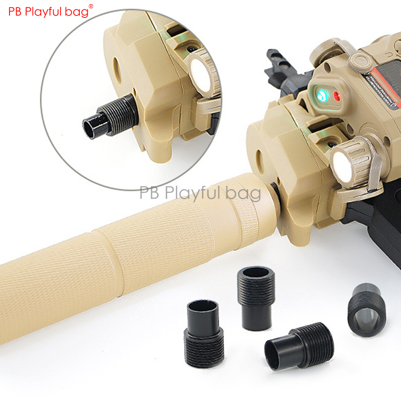 Playful Bag Outdoor Bingfeng MP7 Special 14 Reverse Tooth Adapter Upgrade Material Cap Adapter Water Bullet Toy Accessory QE76