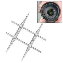 25 130MM zakrzywione końcówki aparat klucz płaski do obiektywu narzędzie do otwierania i naprawy zestawu DSLR