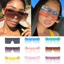 Wholesale 10 Colors One Piece Rimless Square Women's Sunglasses