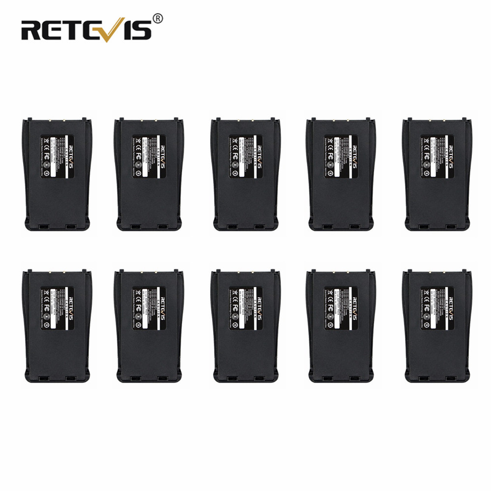 Retevis 1000mAh Li-ion Battery 10pcs  DC 3.7V For Baofeng Bf-888S 888S Walkie Talkie Retevis H-777 H777 Battery In Moscow