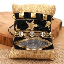 Rttooas хит продаж браслет со звездой miyuki женские браслеты
