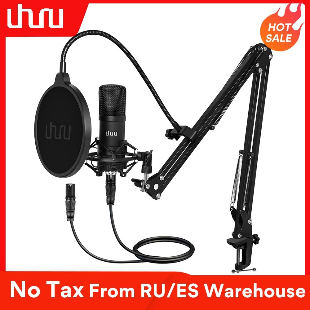 UHURU XLR Condenser Microphone Professional Studio Cardioid Mikrofon Kit Podcast Streaming Mic for Broadcast YouTube Recording