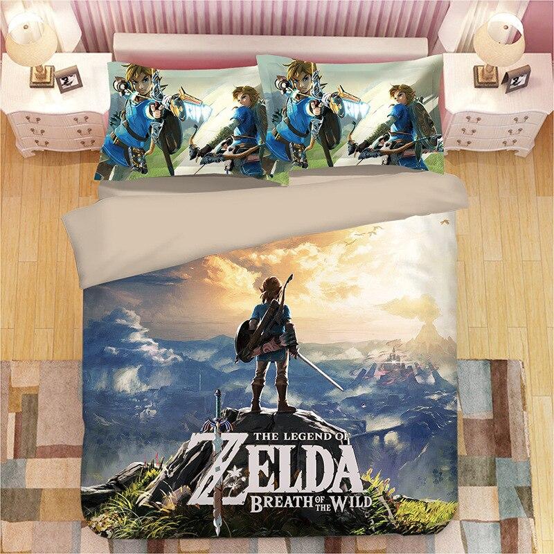 Game Legend Of Zelda Bed Linen Cartoon Game Duvet Covers Pillowcases Comforter Bedding Sets Bed Linens Bedclothes Bed Set