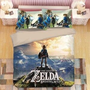 Game Legend of Zelda bed linen Cartoon game Duvet Covers Pillowcases Comforter Bedding Sets bed linens bedclothes bed set(China)
