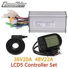 36V 48V 500W kontroler LCD LCD5 wyświetlacz miernik PAS zestaw E-zestaw do konwersji roweru podwójny tryb czujnik halla i czujnik halla mniej