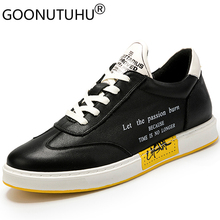 2019 style fashion men's shoes casual genuine leather flats sneakers male height increasing shoe man nice platform shoes for men forudesigns women fashion high top flats shoes cool skull design female height increasing platform shoes for teenage girls shoes