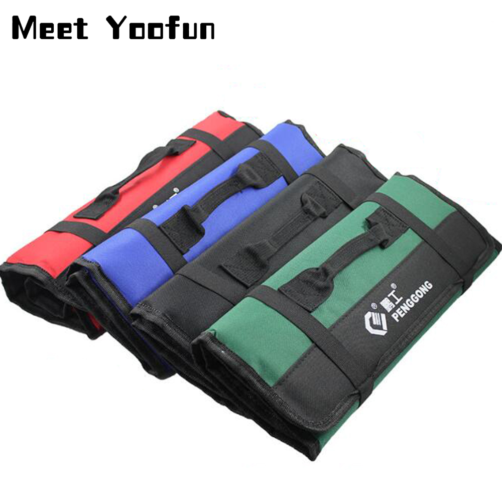 Multifunctional Oxford Cloth Bag Portable Reel Thick Outdoor Repair Tool Storage Tote Bag