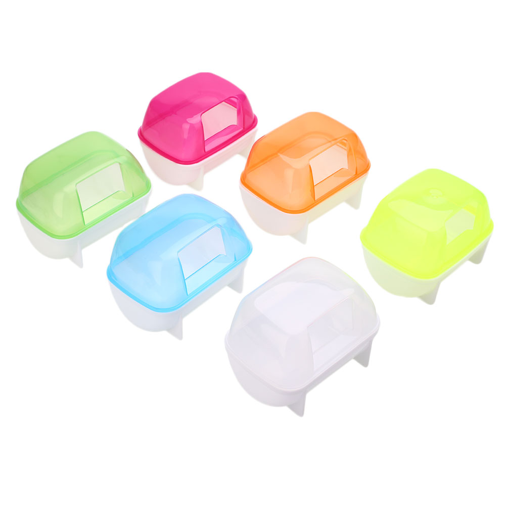 Hamster Small Pet Bathroom Bath Sand Room House Sauna Toilet Bathtub Plastic