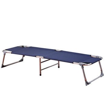 Reinforced Folding Bed Single Bed Bed Simple Office Nap Accompanying Bed Canvas Camp Bed Lounge Chair  Folding Bed
