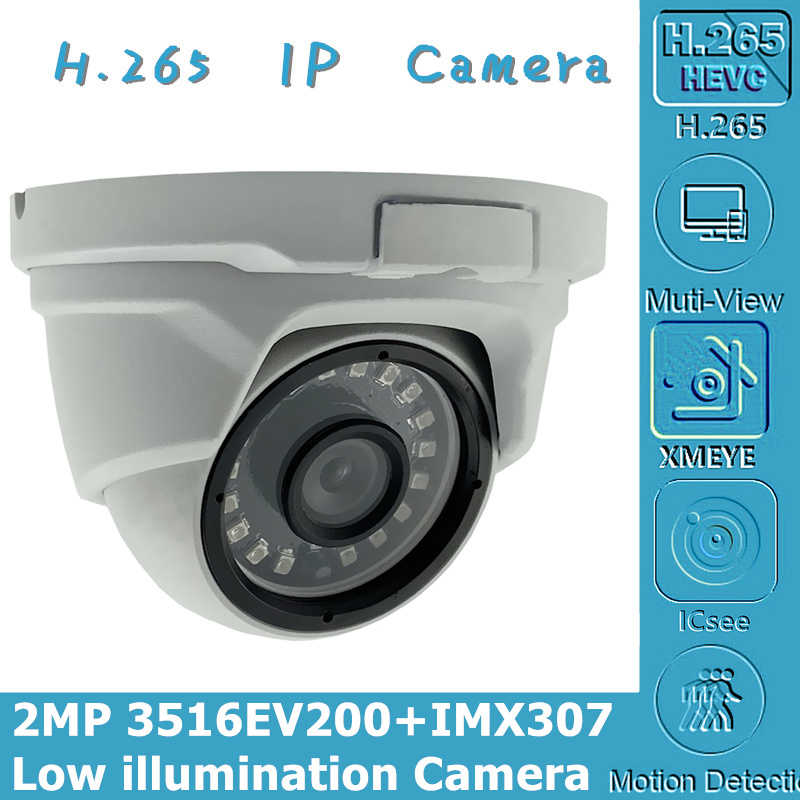 IP Ceiling Metal Dome Camera Sony IMX307+3516EV200 Low illumination 1080P H.265 ONVIF CMS XMEYE P2P Motion Detection RadiatorSurveillance Cameras   -
