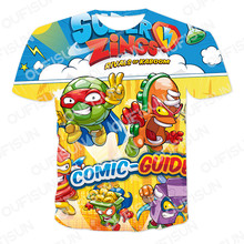 2021 tendência roupas infantis 3d t-shirts verão popular jogo super zings dos desenhos animados meninos/meninas/bebê tshirt respirável 4t-14t