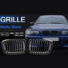 Matte Black Kidney Grille Grill for BMW 3 Series 1998 2001 E46 320I 325I 328I 330I 4 Door Sedan