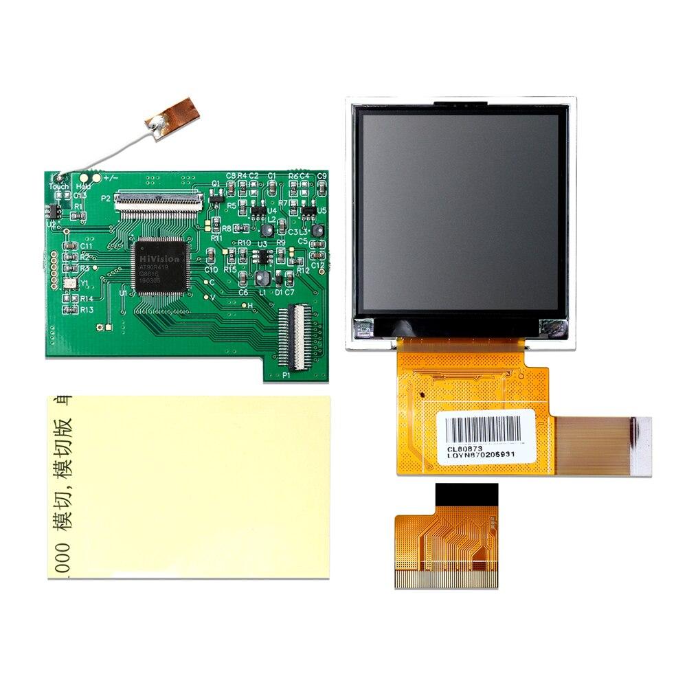 For GBC High Light Screen LCD Modification Kit 5 Segment Adjustable Brightness Screen LCD + Mirror + Motherboard For Nintend GBC