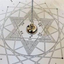 deli pendant Reiki pendulums stone for dowsing Charms pendulum stone Amulet ose gold 100% Copper Material pendulum pendentif