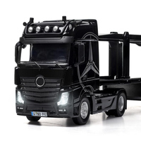 Simulation benz Trailer truck head 1:32 scale metal model with light and sound diecast pull back vehicle alloy toys collection