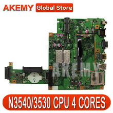 AK для ASUS X453MA X403M F453M материнская плата для ноутбука X453MA N3540/3530 CPU 4 ядра материнская плата тест хороший
