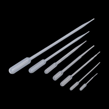 0.2/0.5/1/2/3/5/10ML Laboratory Pipette Plastic Disposable Graduated Pasteur Pipette LDPE Liquid Dropper Lab Supplies 10 Pcs