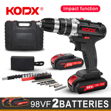 KODX New Cordless Drill Electric Screwdriver Mini Wireless Power Driver DC Lithium-Ion Battery 3/8-Inch 2 Speed Power Tools