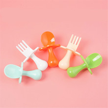 Easy-To-Carry-Set Forks Spoons Plastic Travel Baby Beginners-Use Cutlery-Is-Not-Easy-To-Be-Injured