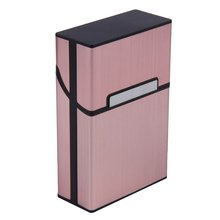 Cigarettes Slim Aluminum Cigarette Case Cigar Tobacco Holder Pocket Box Storage Container Smoking Accessories 90 x 58 x 26mm smoking accessories men lady gift cigarette storage container case aluminium alloy tobacco holder pocket box magnetic button