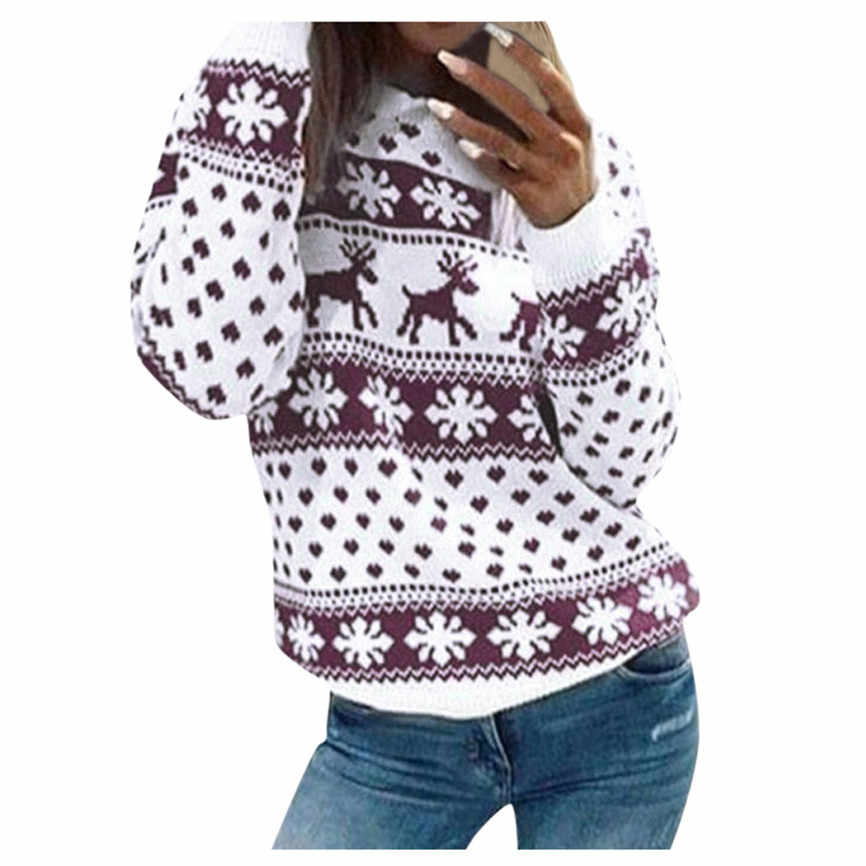 Sweater Women 2019 Autumn Winter Christmas Sweater Long Sleeve O-Neck Christmas Tree knitting Sweater Tops sweaters for women
