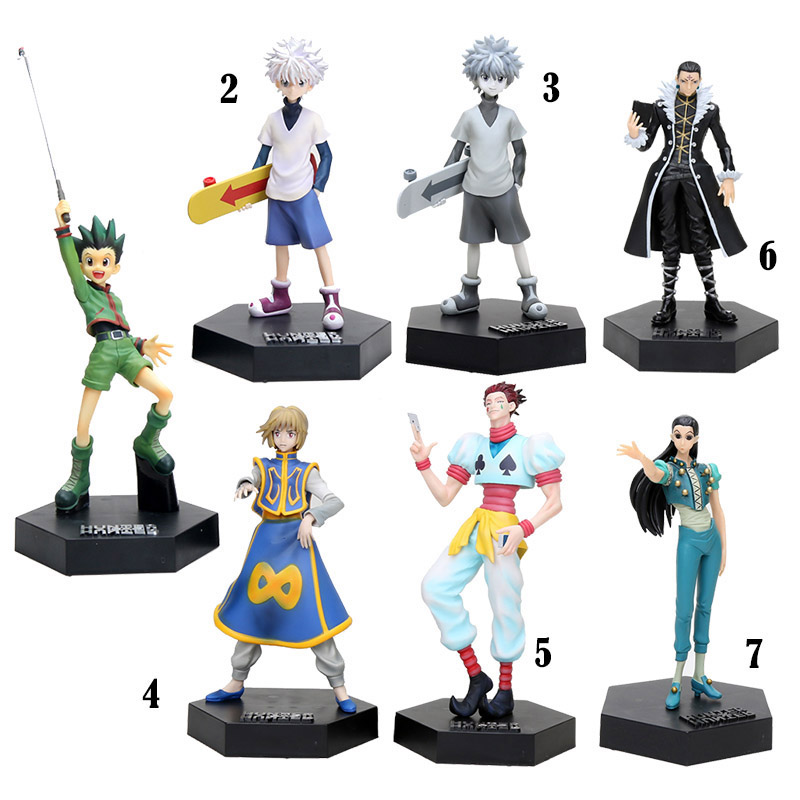 16cm-22cm Anime Hunter X Hunter Kulolo Lushilufelu Curarpikt Hyskoa Gon Freecss Killua Zoldyck Action Figure Model Toy