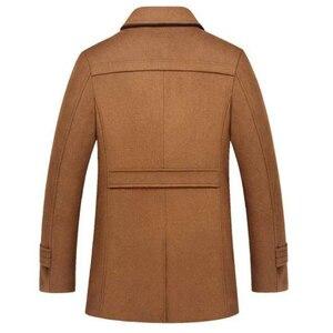 Image 2 - Abrigo de invierno para hombre, abrigos de lana gruesos a prueba de viento con cuello doble, prendas de vestir, chaqueta de invierno, Parka gruesa y cálida, ropa 5XL