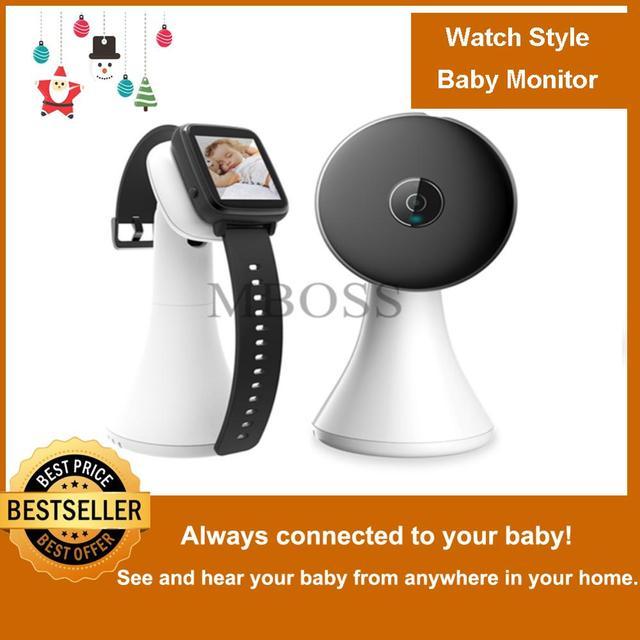 אלחוטי וידאו שעון סגנון תינוק צג נייד הלם רטט תינוק נני Cry מעורר מצלמה ראיית לילה טמפרטורת ניטור