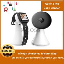 Wireless Video Watch Style Baby Monitor Portable shock vibration Baby Nanny Cry Alarm Camera Night Vision Temperature Monitoring