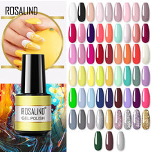 Rosalind gel polonês 7ml gel vernizes tudo para unhas manicure arte embeber fora base superior casaco semi permanente glitter gel unha polonês