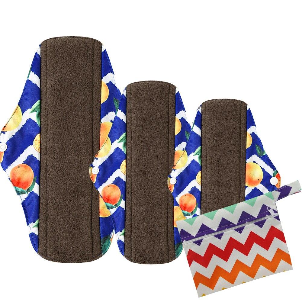 3 + 1 набор ткань гигиенические менструальные прокладки многоразовые моющиеся Mama менструальные прокладки бамбуковая хлопчатобумажная ткан...