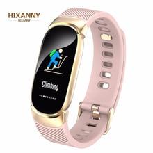 New Sports Waterproof Smart Watch Women Bracelet Band Bluetooth Heart Rate Monitor Fitness Tracker Smartwatch Metal Case
