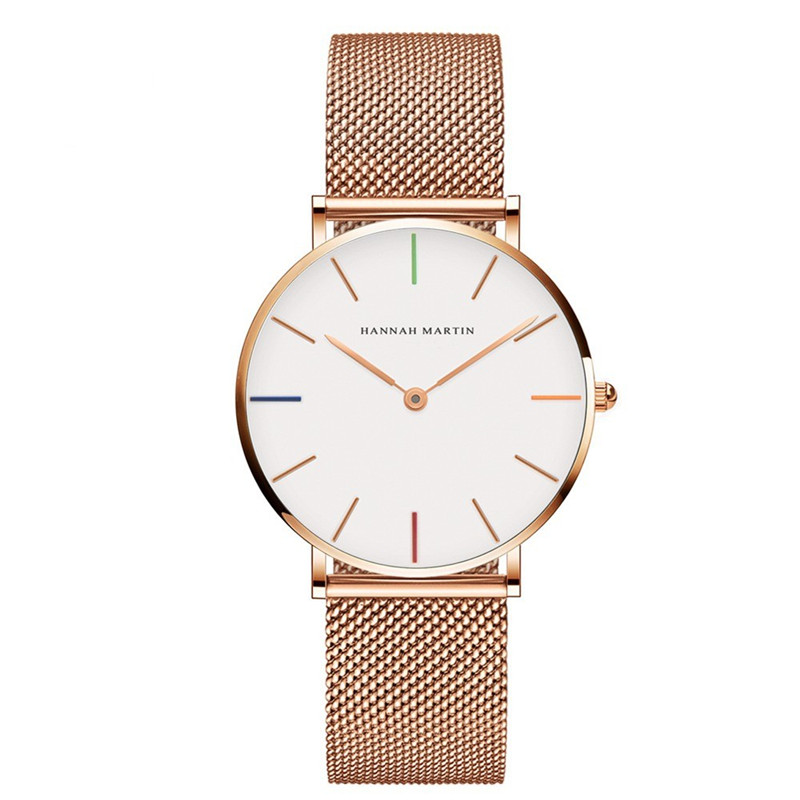 Watches High Quality Luxury Stainless Steel Wristwatch Women Rose Gold Stylish Quartz Ladies Watch Waterproof Relogio Feminino