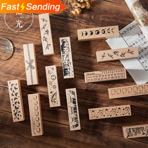 1pc Vintage natural Star Planet Forest rubber seal cute Wood clear stamps DIY scrapbooking decoration bullet journal supplies