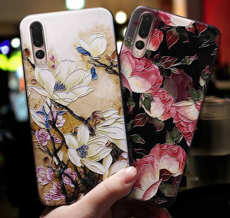 HTMOTXY 3D Flower Space Case For Xiaomi Redmi Note 8 7 pro 5 Plus Mi 8 9 SE A1 A2 Case Art Emboss Matte Soft TPU Capa Shockproof