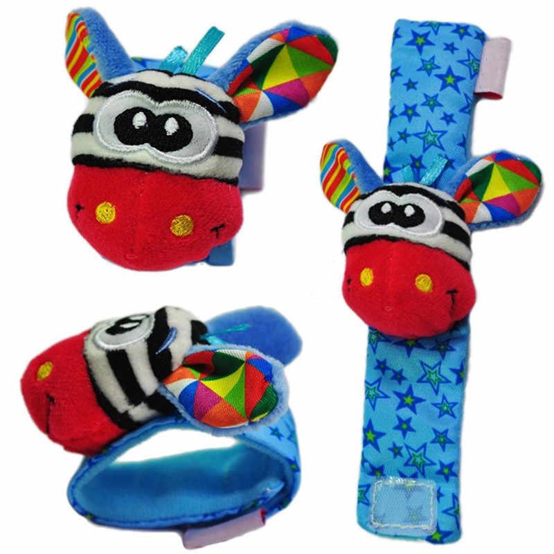 Hot เด็กวัยหัดเดินของเล่นเด็ก Rattles ของเล่นถุงเท้าสัตว์สายรัดข้อมือ Rattle เด็กเท้าถุงเท้าสายคล้องข้อมือการ์ตูนการศึกษาที่ดีที่สุดของขวัญ