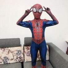Новинка, костюм Человека-паука для детей и взрослых, полиэфирное волокно(полиэстер), Spider-man костюм для Хэллоуина, маскарадный костюм