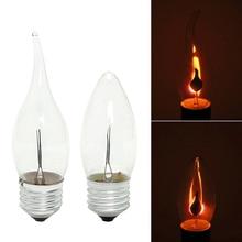 220 В 3W светодиодный светильник Эдисона E14 с эффектом пламени, винтажный мерцающий вольфрамовый подсвечник E14