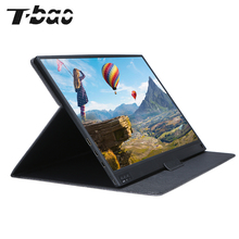 T bao Portable Monitor Expansion Screen 1920x1080 HD IPS 15.6 inch Display LED Monitor with Leather Case for PS4 Xbox
