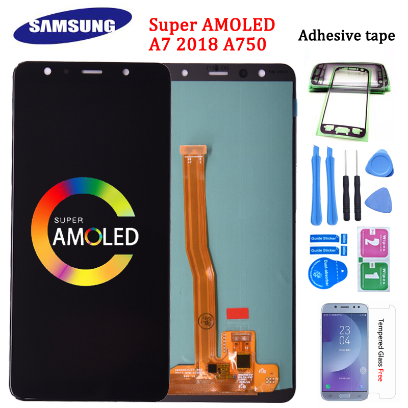 Super Amoled For <font><b>Samsung</b></font> <font><b>Galaxy</b></font> <font><b>A7</b></font> <font><b>2018</b></font> A750 SM-A750F LCD <font><b>Display</b></font> with Touch Screen Digitizer Assembly Replacement Part image